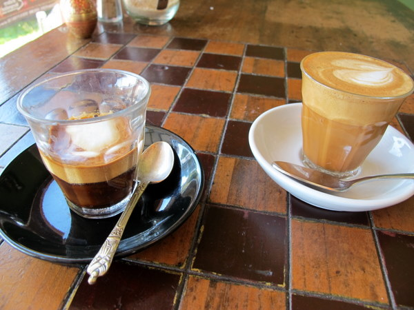 Macchiato and picolo @ Petty Cash cafe